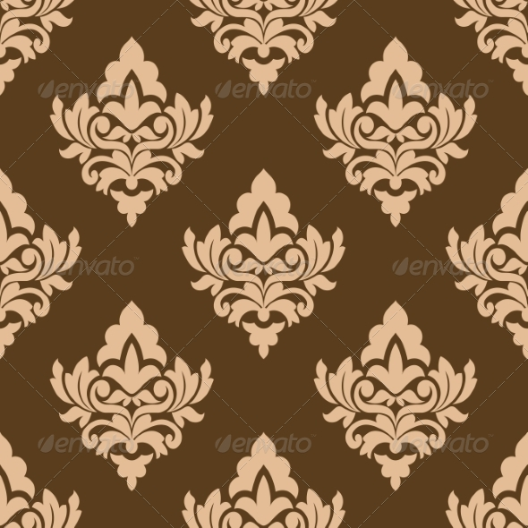 GraphicRiver Seamless Pattern with Floral Arabesques 7040053