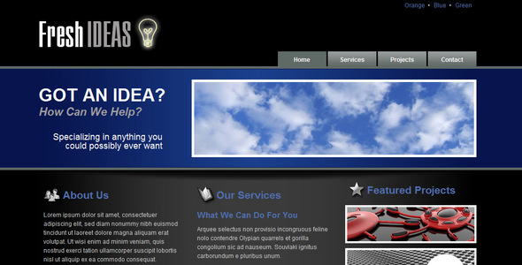 ThemeForest Fresh Ideas 3 Color Themes 30083