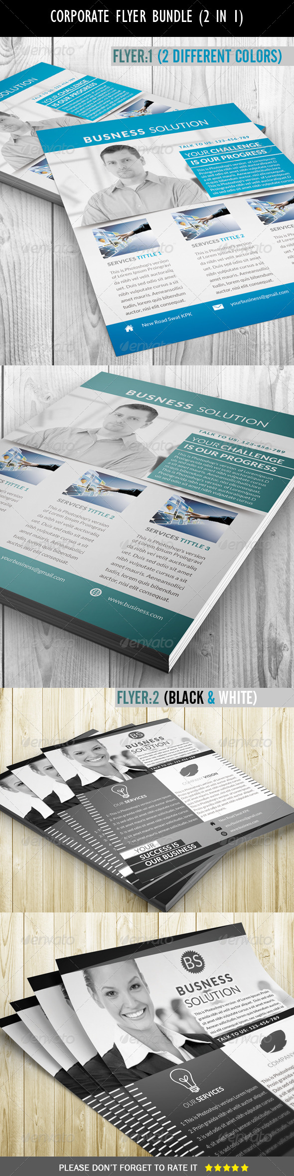 GraphicRiver Corporate Flyer Bundle 2 in 1 7040418