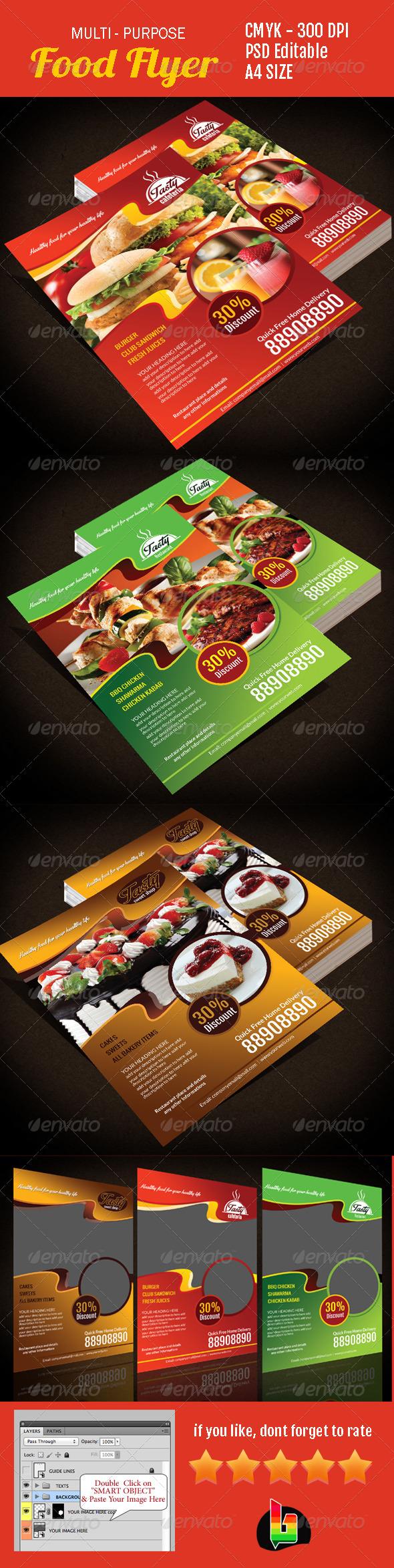 GraphicRiver Multi-Purpose Food Flyer 7040582