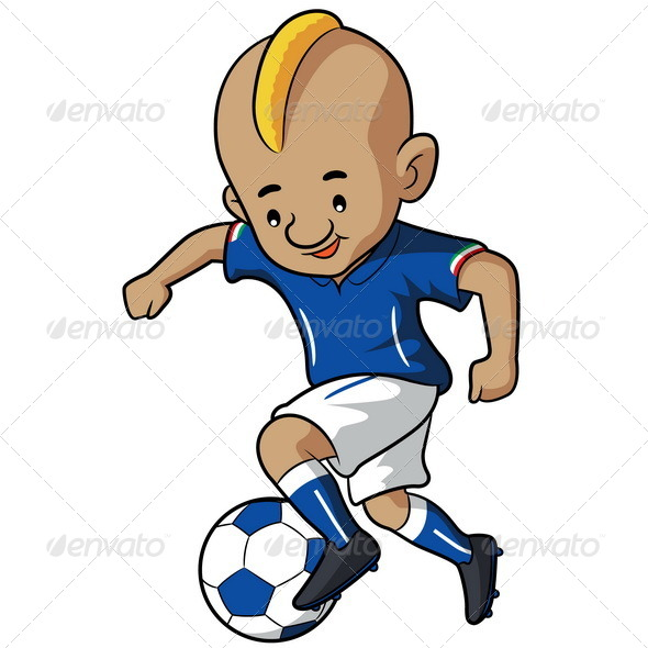 GraphicRiver Soccer Kid Cartoon 7040820