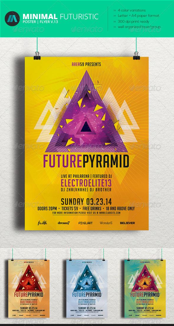 GraphicRiver Minimal Futuristic Poster Flyer V.13 7040896