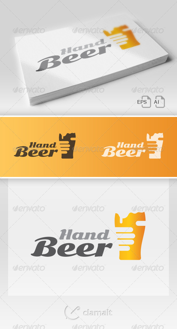 GraphicRiver Beer In Hand Logo 7025328