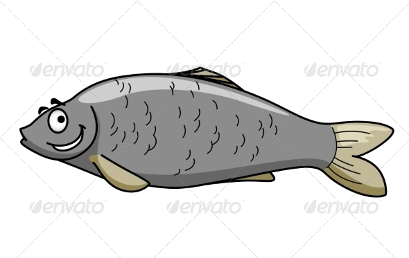 Cartoon Fish with a Smile