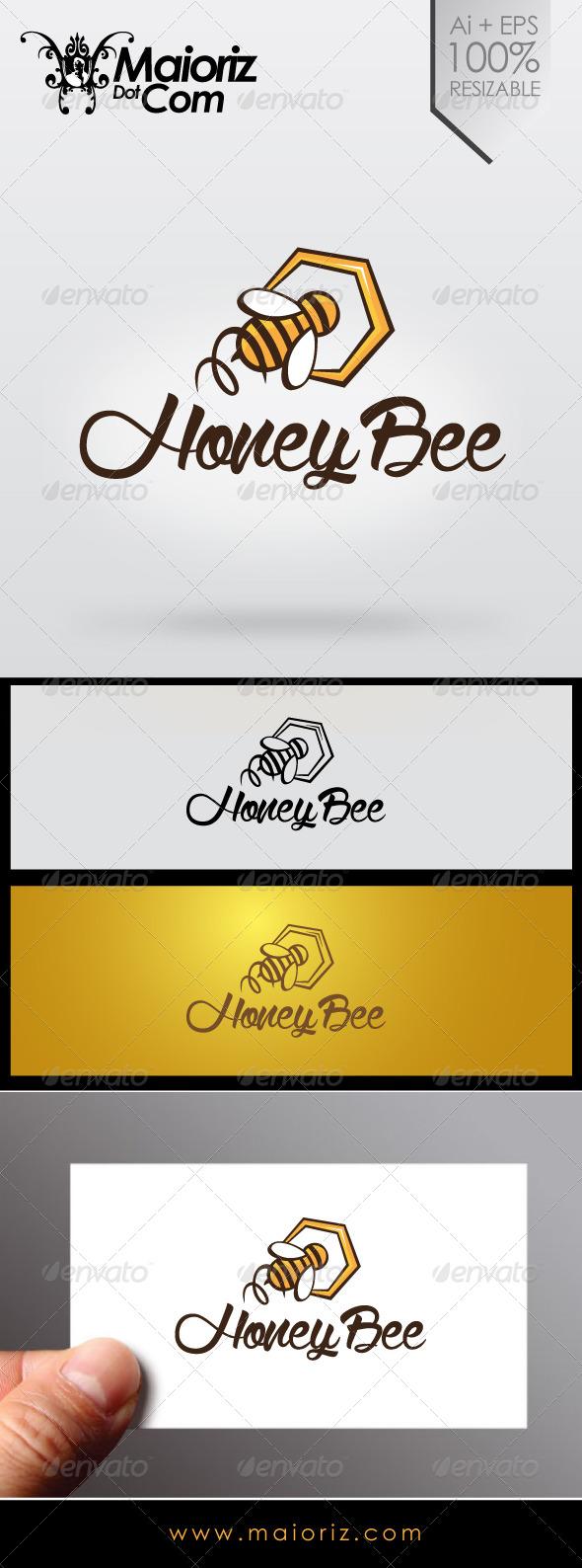 GraphicRiver Honey Bee Logo 7041485