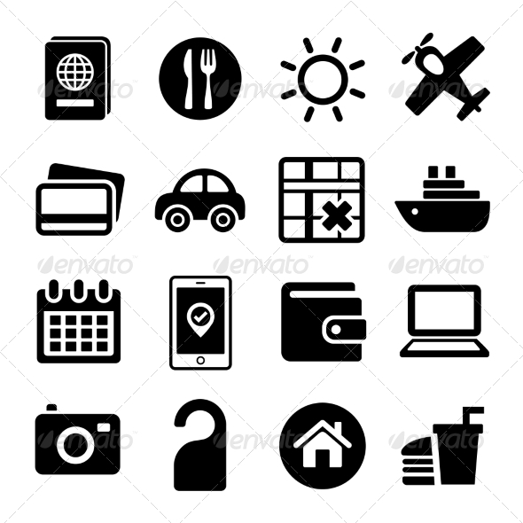 GraphicRiver Travel Icons Set 7041550