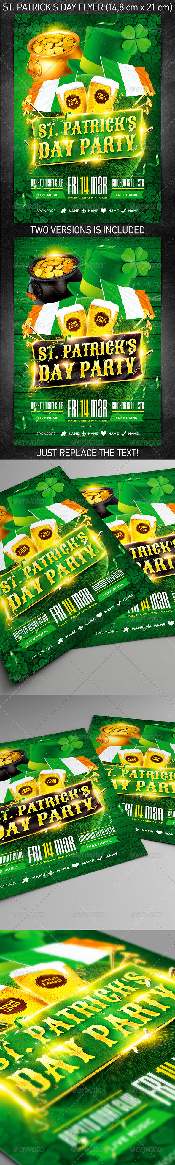 GraphicRiver St Patrick s Day Flyer Vol.3 7017829