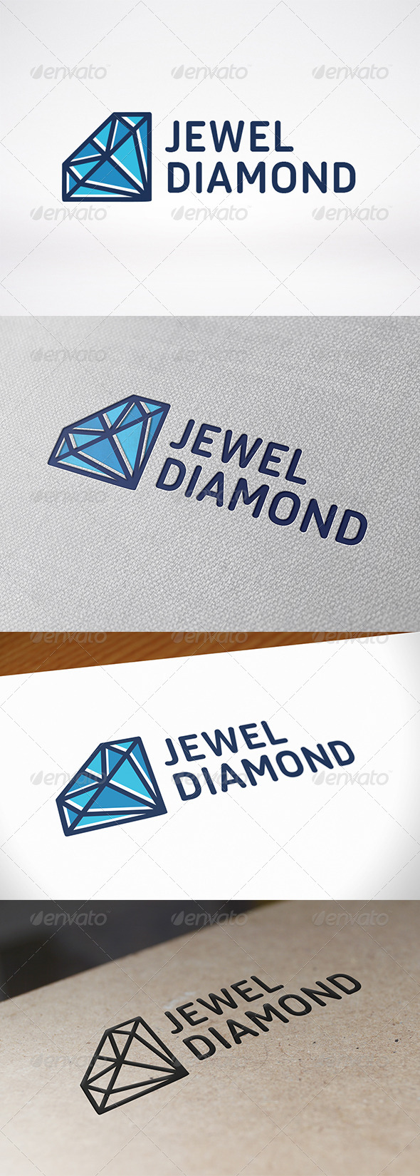 Diamond Gem Logo Template - Objects Logo Templates