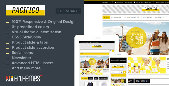 ThemeForest Pacifico A subtle responsive OpenCart theme 6936069