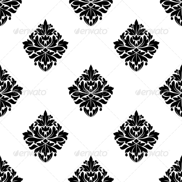 GraphicRiver Floral Arabesque Motifs Seamless Pattern 7041766