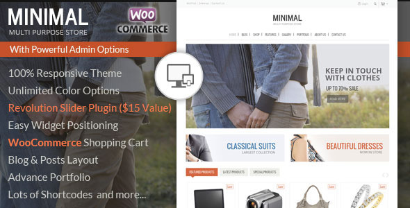 ThemeForest Minimal Multi Purpose WooCommerce Theme 7041918