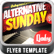 Alternative Sunday Flyer Template - GraphicRiver Item for Sale