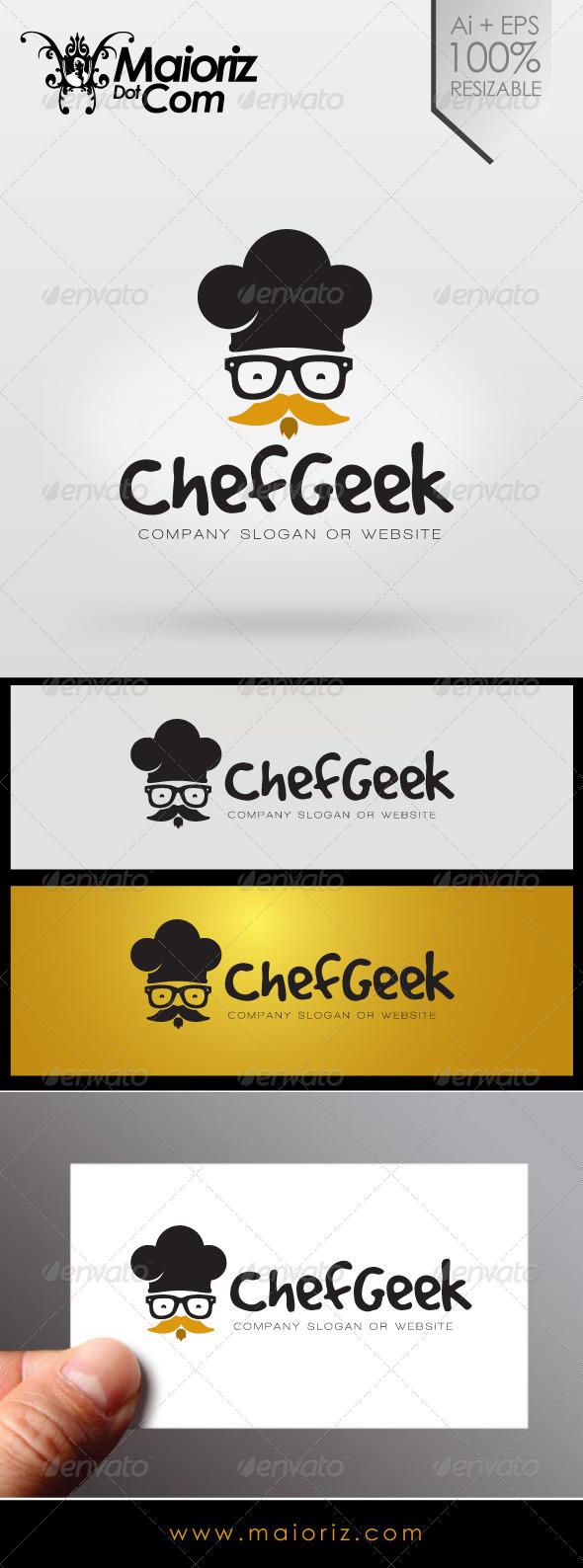 GraphicRiver Chef Geek Logo 7042289