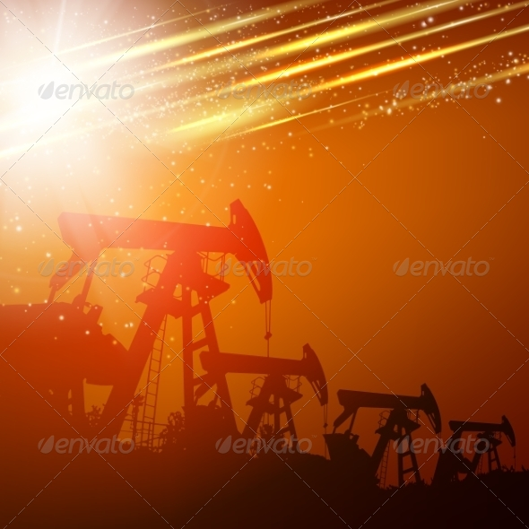 GraphicRiver Pump Jack Oil Crane 7042335