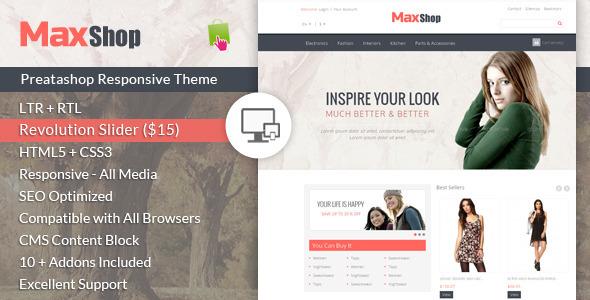 ThemeForest Maxshop Prestashop Responsive Theme 7042338