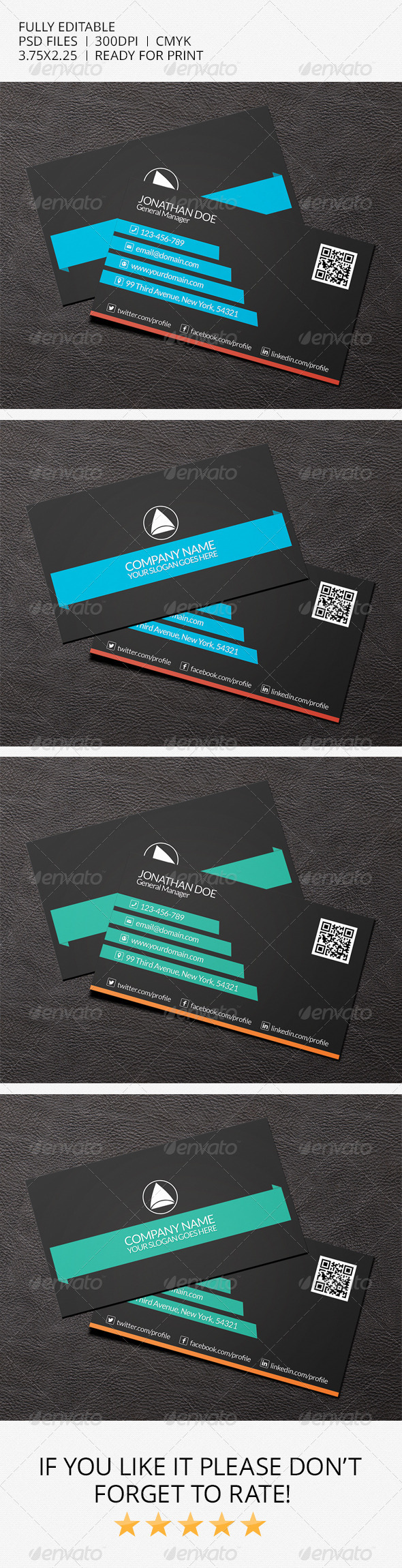 GraphicRiver Simple Business Card 7042370