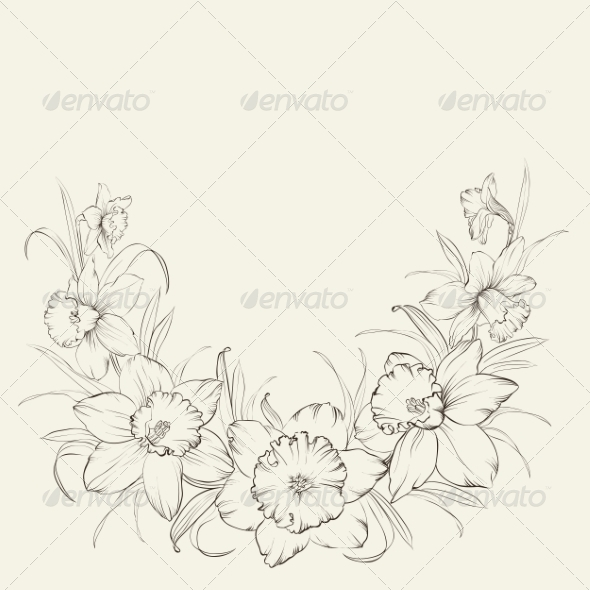 GraphicRiver Narcissus Flowers 7042376
