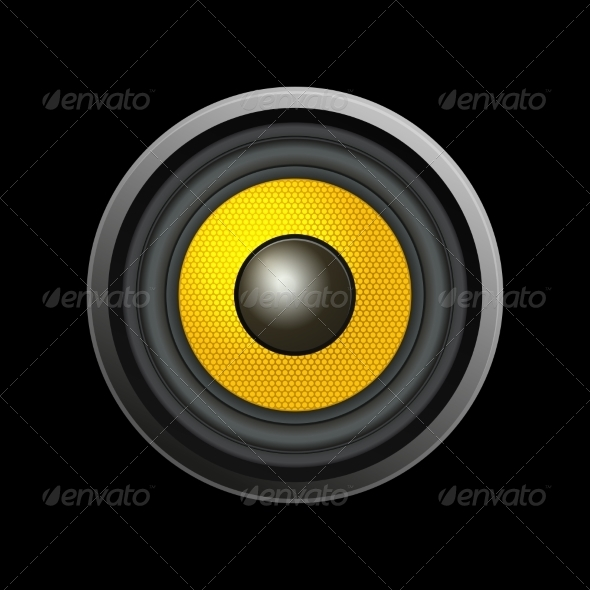 GraphicRiver Speaker Isolated on Black Background 7042469