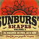 Sunbursts Shapes Vol.3 - GraphicRiver Item for Sale