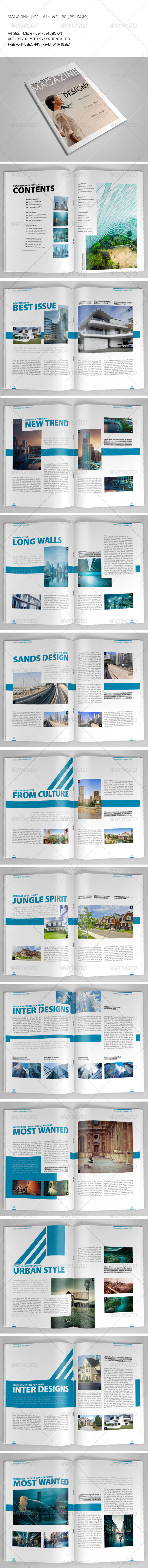 GraphicRiver 25 Pages Simple Magazine Vol20 7042517