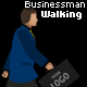 Business man Walking with shadow - ActiveDen Item for Sale