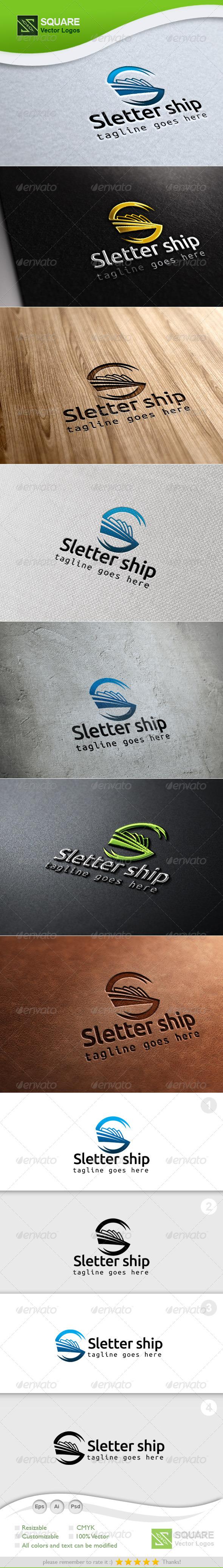 GraphicRiver S Ship Vector Logo Template 7042687