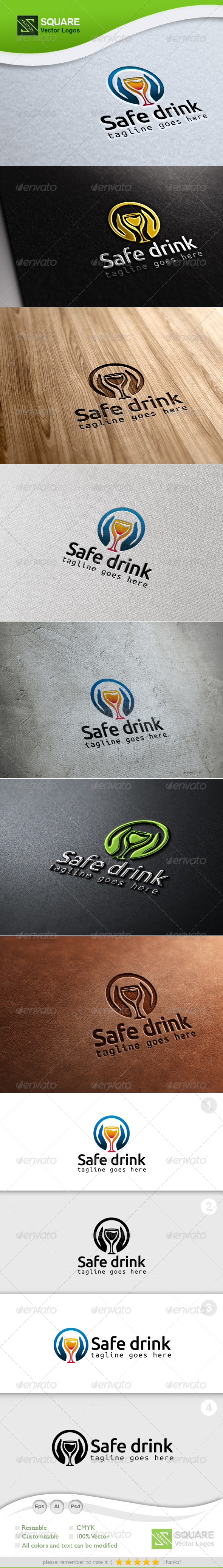 GraphicRiver Hands Drink Glass Logo Template 7042756