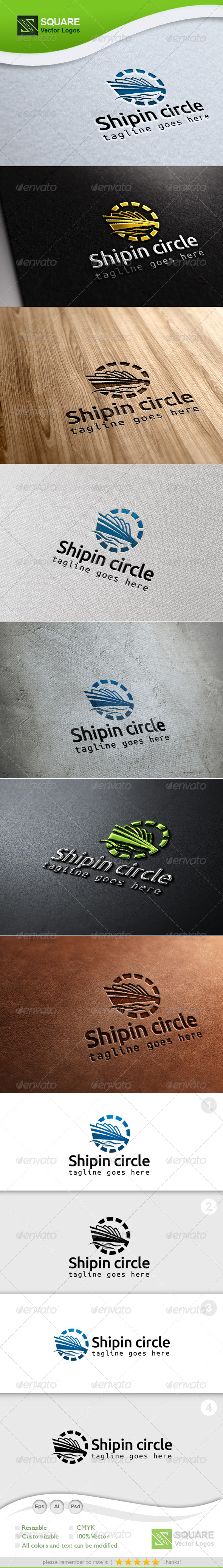 Ship, Circle Vector Logo Template - Symbols Logo Templates