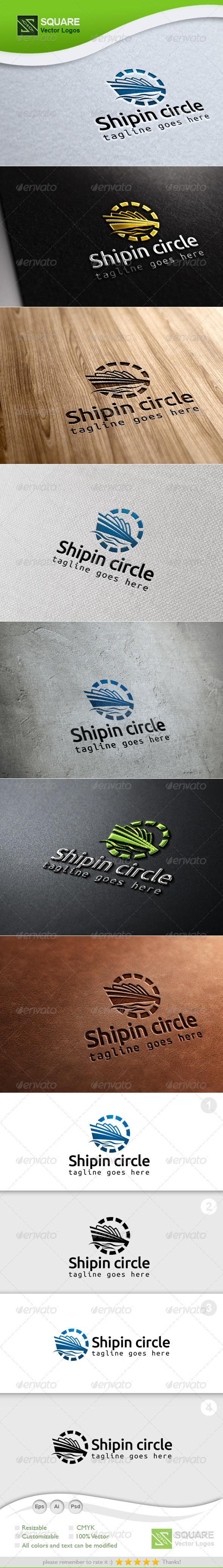 GraphicRiver Ship Circle Vector Logo Template 7042907