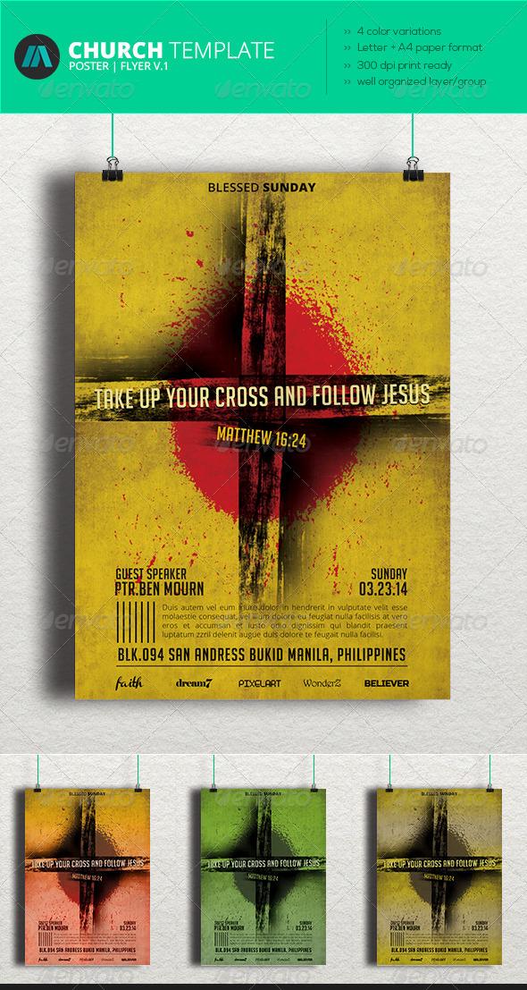 GraphicRiver Church Flyer V.1 7043068