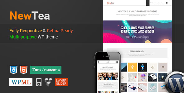 ThemeForest NewTea Responsive-Retina Multi-Purpose WP Theme 6848076