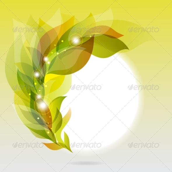 GraphicRiver Abstract Frame with Green Leaves 7043125