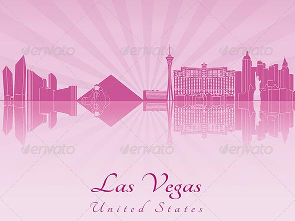 Las vegas skyline by paulrommer graphicriver for Las vegas skyline tattoo