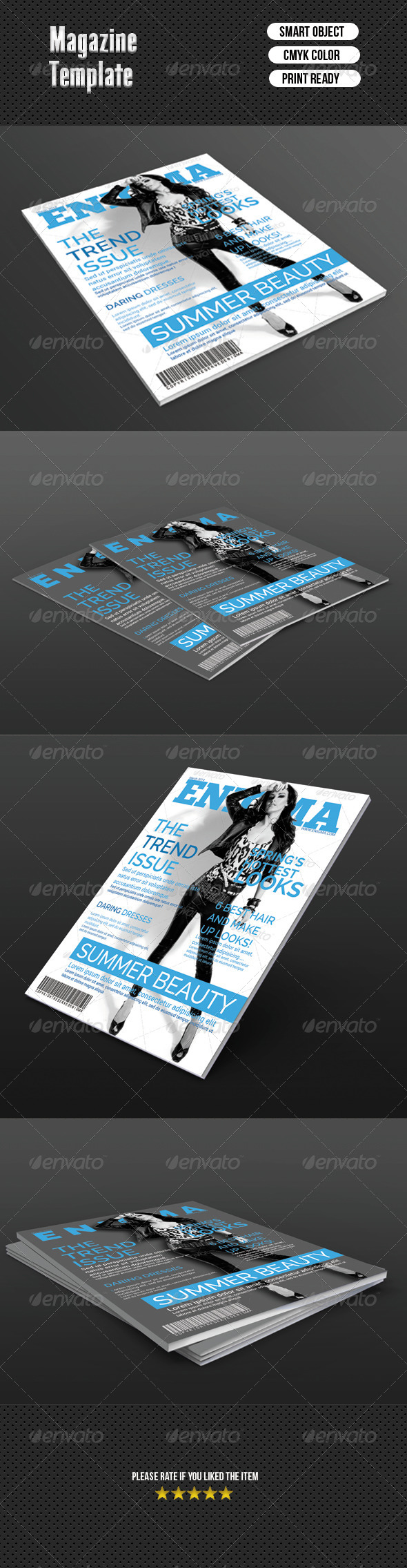 GraphicRiver Fashion Magazine Cover Template 7043462