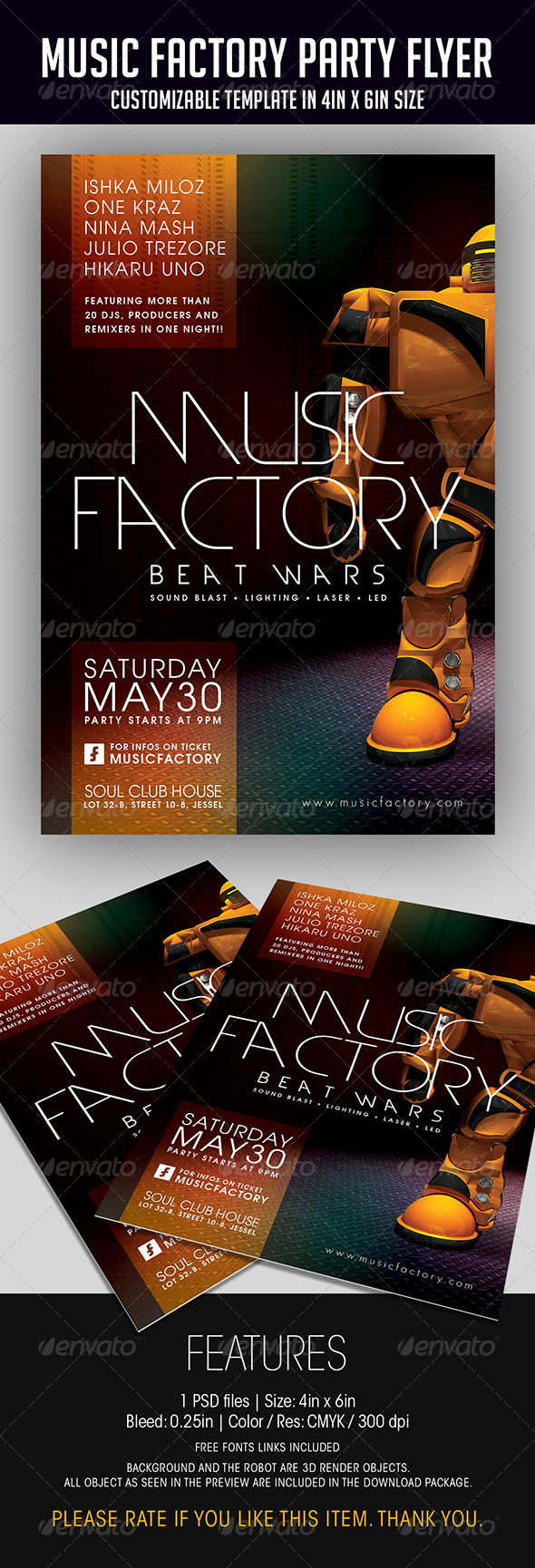 GraphicRiver Music Factory Party Flyer 7026972