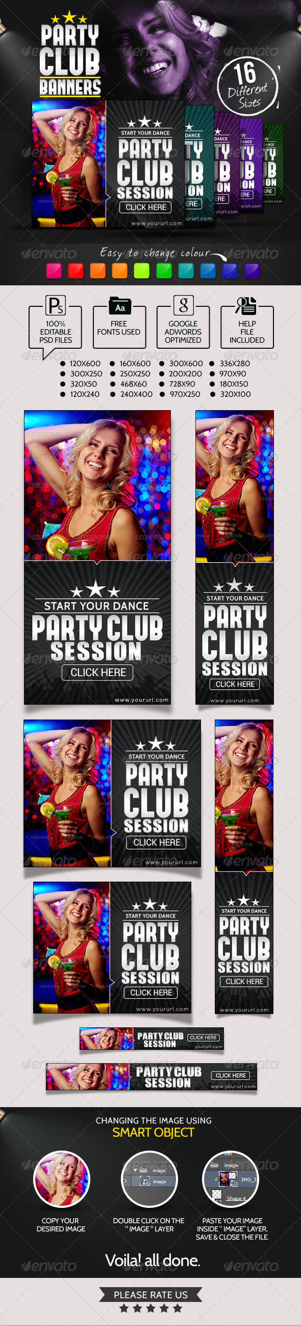 GraphicRiver Club Party Night Banners 7043712