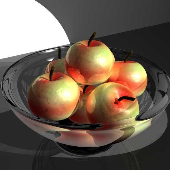 3DOcean Apple Fruit Bowl 738473