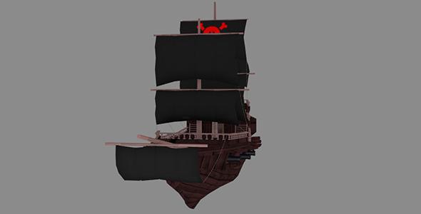 3DOcean Medium Detail Pirate Ship 7032542