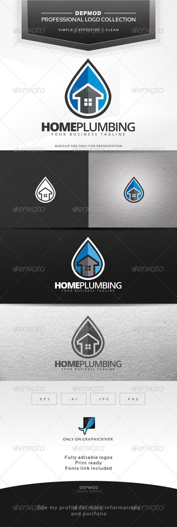 GraphicRiver Home Plumbing Logo 7044215