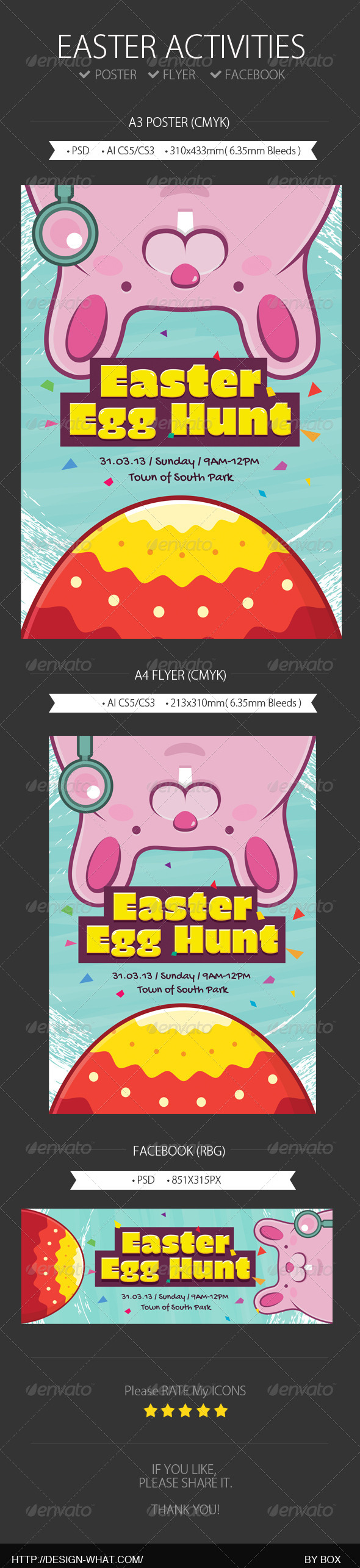 GraphicRiver Easter Activities 7024294