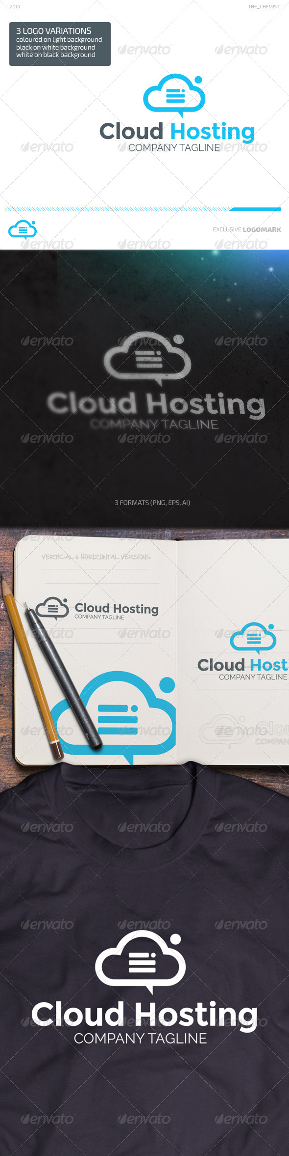 GraphicRiver Cloud Hosting Logo 7044338