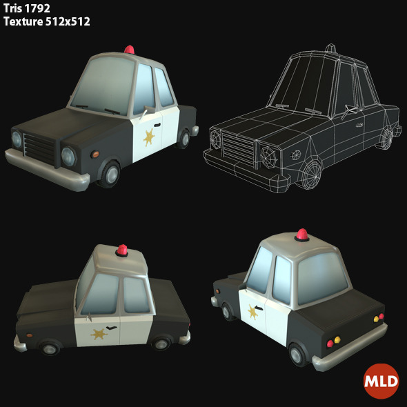 3DOcean Low Poly Police Car 7044572