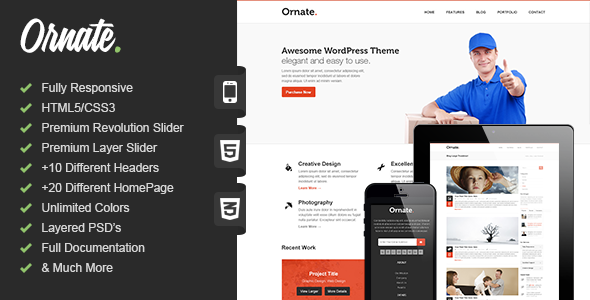 Ornate - Responsive HTML5 Template