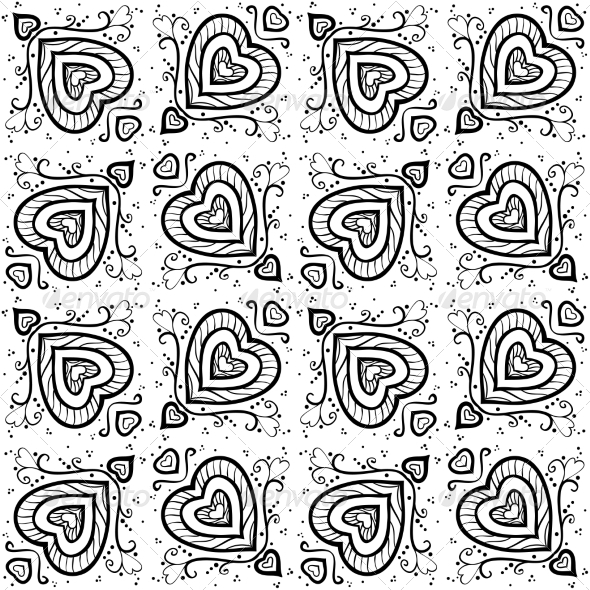 GraphicRiver Seamless Abstract Hand Drawn Pattern 7045165