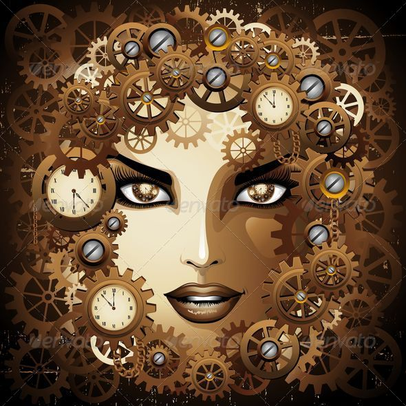 GraphicRiver Steampunk Girl Portrait 7045166