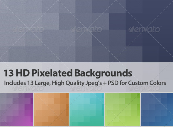 GraphicRiver 13 HD Pixelated Backgrounds 7045225