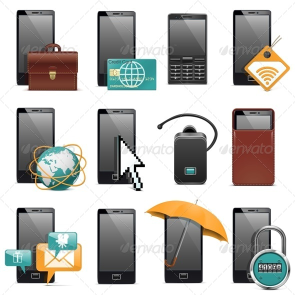 GraphicRiver Mobile Phone Icons 7045228
