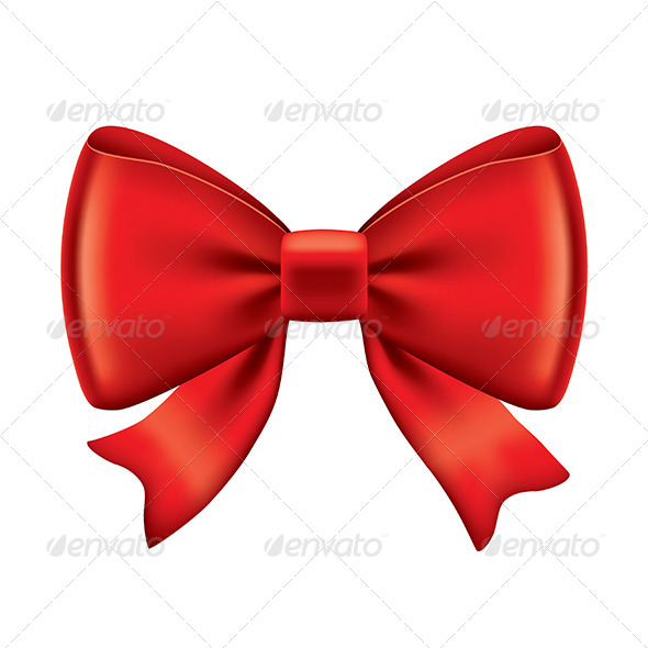 GraphicRiver Red Bow 7045399