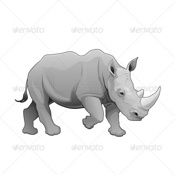 GraphicRiver Rhinoceros 7045400