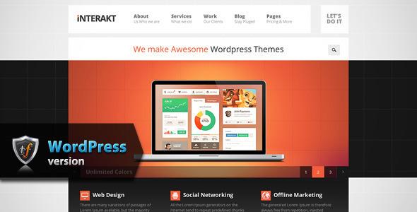 ThemeForest Interakt Agency Responsive WordPress Theme 7045655